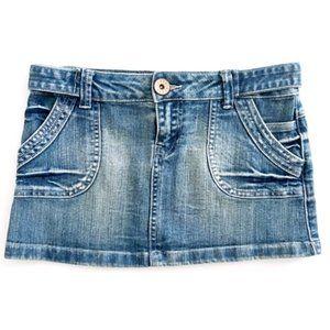 GUESS Women's Mini Short Denim Jean Skirt 26